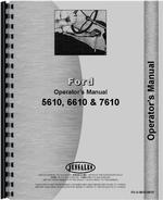 Operators Manual for Ford 5610 Tractor
