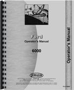 Operators Manual for Ford 6000 Tractor