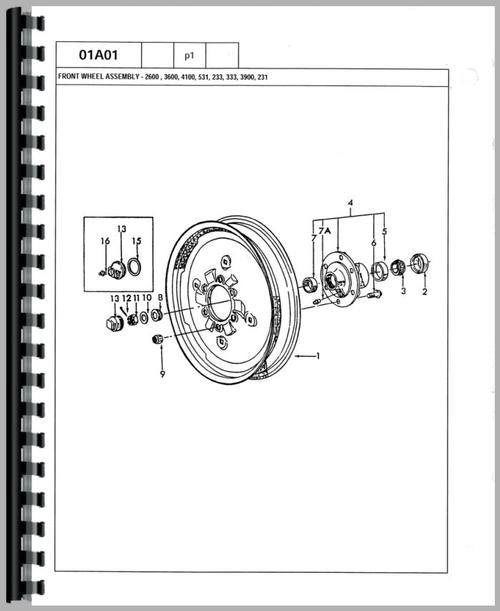 Ford 6600 Tractor Parts Manual