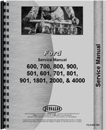 Service Manual for Ford 701 Tractor