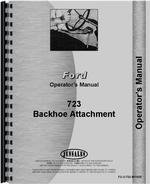 Operators Manual for Ford 723 Backhoe Attachment