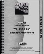 Operators Manual for Ford 753 Backhoe Attachment