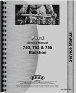 Service Manual for Ford 753 Backhoe Attachment