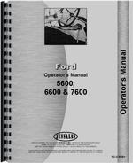 Operators Manual for Ford 7600 Tractor