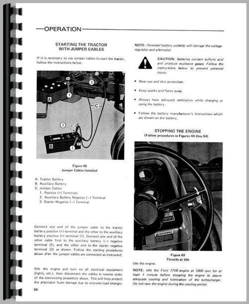 ford 7700 tractor operators manual rh themanualstore com ford 7700 tractor workshop manual ford 7700 owners manual
