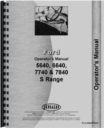 Operators Manual for Ford 7740 Tractor