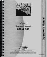 Operators Manual for Ford 800 Tractor