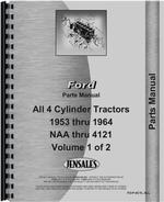 Parts Manual for Ford 821 Tractor