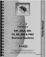 Parts Manual for Ford 9N Sherman 54F Backhoe Attachment