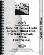 Operators Manual for Ford 9N Davis 101 Loader Attachment