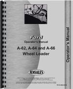 Operators Manual for Ford A62 Wheel Loader