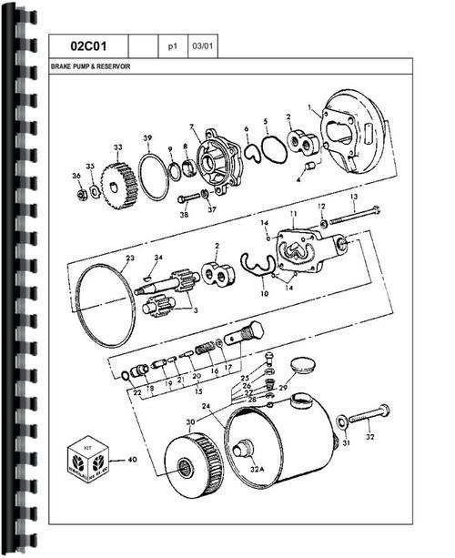 Ford A62 Wheel Loader Parts Manual