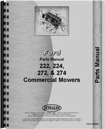 Parts Manual for Ford CM272 Commercial Mower