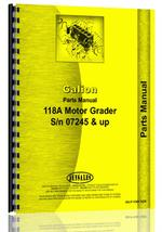 Parts Manual for Galion 118A Grader