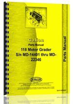 Parts Manual for Galion 118 Grader