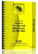 Parts Manual for Galion 450 Grader