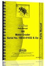 Parts Manual for Galion 160 Grader