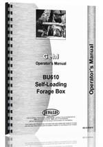 Operators Manual for Gehl BU610 Forage Box