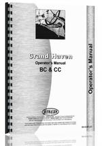 """Operators Manual for Grand Haven BC, CC Tractor"""