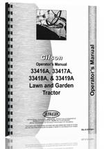 Operators Manual for Gilson 33418A Lawn & Garden Tractor