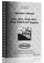 Operators Manual for GMC 351M Engine