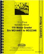 Operators Manual for Galion 118 Grader