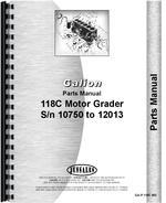 Parts Manual for Galion 118C Grader
