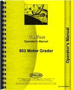 Operators Manual for Galion 503 Grader