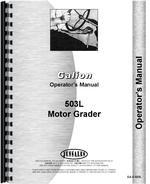 Operators Manual for Galion 503L Grader