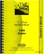 Operators Manual for Galion T-500 Grader