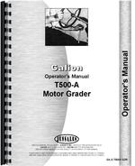 Operators Manual for Galion T-500A Grader