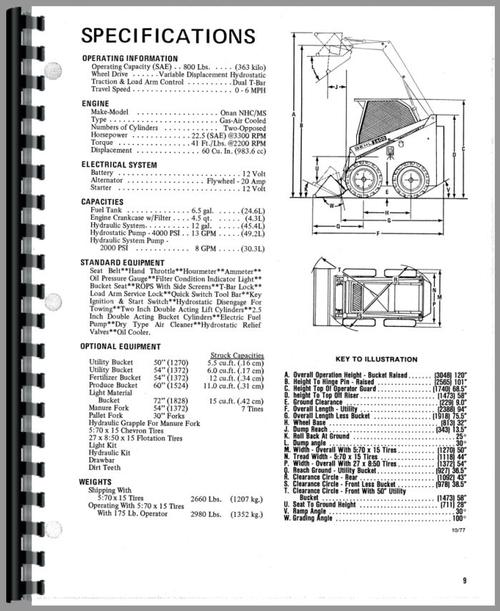 Gehl HL2600 Skid Steer Loader Operators Manual
