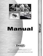 Operators Manual for Ford S-41 Cultivator