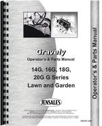 Operators & Parts Manual for Gravely 16G Lawn & Garden Tractor