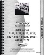 Operators Manual for Gravely 8167 Lawn & Garden Tractor