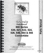"""Parts Manual for Gravely 520, 521, 522, 524, 526, 546, 564, 566 Convertible Walk Behind Mower"""