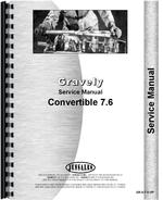 Service Manual for Gravely L Convertible Walk Behind Tractor