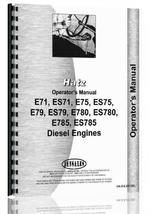 """""""Operators Manual for Hatz E71,ES71, E75, ES75, E79, ES79, E780, ES780, E785, ES785 Engine"""""""