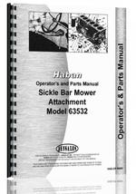 Operators & Parts Manual for Haban all 4' & 5' Sickle Bar Mower Attachment