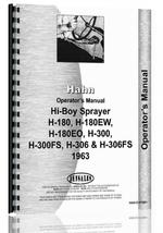 Operators Manual for Hahn H-180EO Tractor