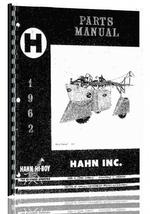 Parts Manual for Hahn H-180 Tractor