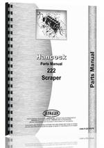 Parts Manual for Hancock 222 Scraper
