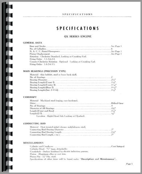 hercules engines qxb  engine service manual