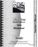 Operators Manual for Hesston 1014 Mower Conditioner