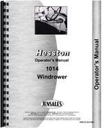 Operators Manual for Hesston 1014 Mower Conditioner