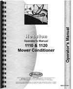 Operators Manual for Hesston 1110 Mower Conditioner