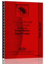 Parts Manual for International Harvester All Roosa Master Injection Pumps