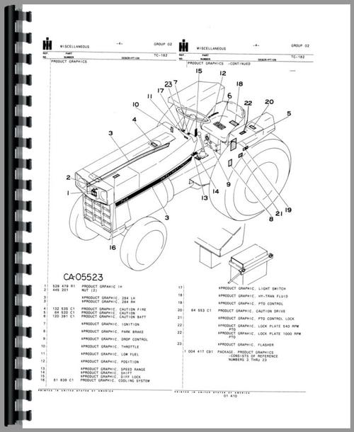 International 284 Tractor Parts : International harvester tractor parts manual