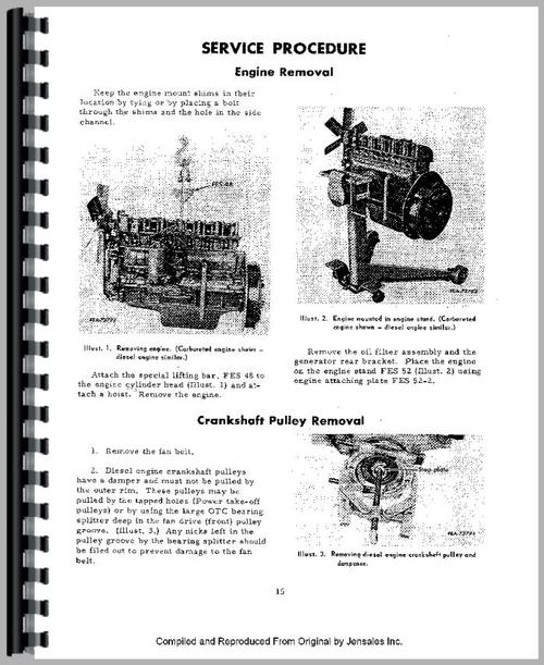 international harvester 3616 industrial tractor engine