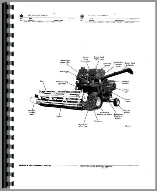 International Harvester Combine Parts : International harvester combine parts manual